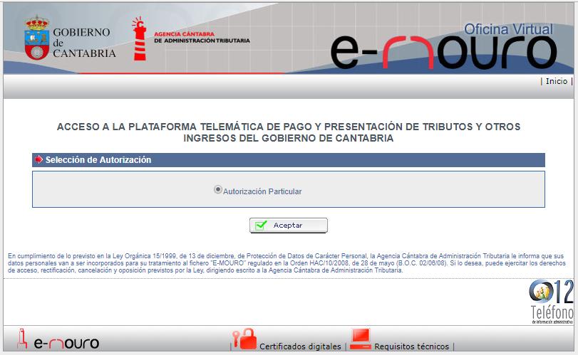 Oficina virtual agencia c ntabra de administraci n for Oficina certificado digital