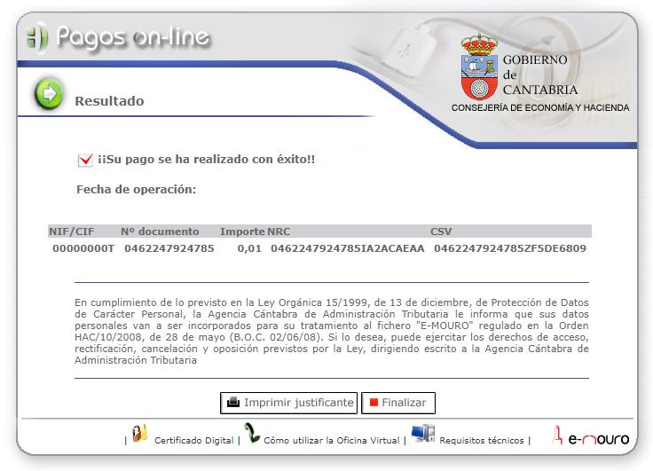 Oficina virtual agencia c ntabra de administraci n for Codigo de oficina